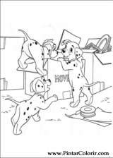 Pintar e Colorir 101 Dalmatas - Desenho 019