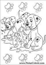 Pintar e Colorir 101 Dalmatas - Desenho 046