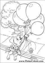 Pintar e Colorir 101 Dalmatas - Desenho 056