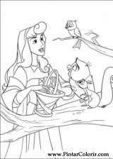 Pintar e Colorir A Bela Adormecida - Desenho 006