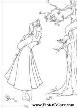 Pintar e Colorir A Bela Adormecida - Desenho 019