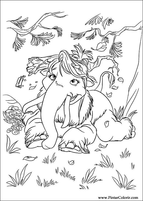 Dibujos para pintar y Color Era de Hielo 4 - Diseño de impresión 008