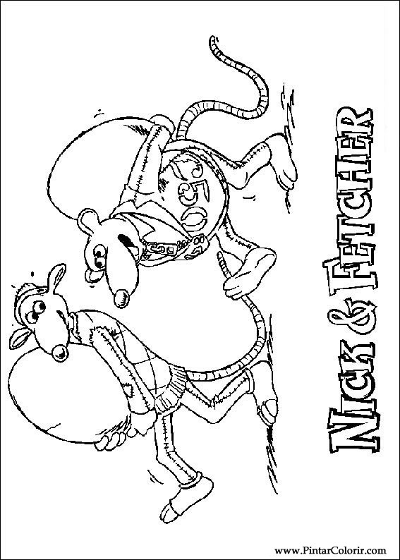 çizimler Boya Ve Renk Chicken Run Için Baskı Tasarım 006