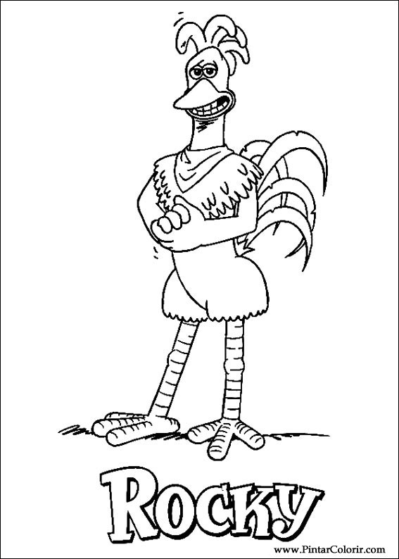 çizimler Boya Ve Renk Chicken Run Için Baskı Tasarım 009