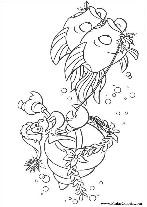 çizimler Boya Ve Renk Küçük Denizkızı Için Baskı Tasarım 034