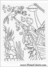 Pintar e Colorir A Pequena Sereia - Desenho 012