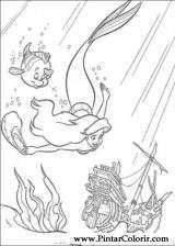 Pintar e Colorir A Pequena Sereia - Desenho 021