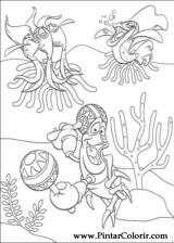 Pintar e Colorir A Pequena Sereia - Desenho 033