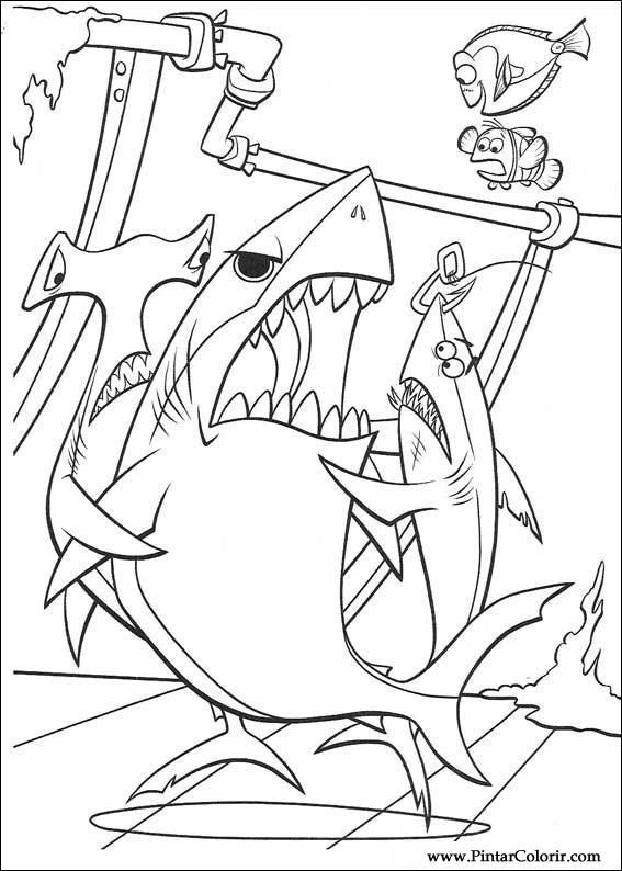 çizimler Boya Ve Renk Finding Nemo Için Baskı Tasarım 017