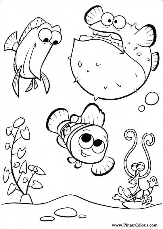 Disegni Per Dipingere Colour Alla Ricerca Di Nemo Stampare