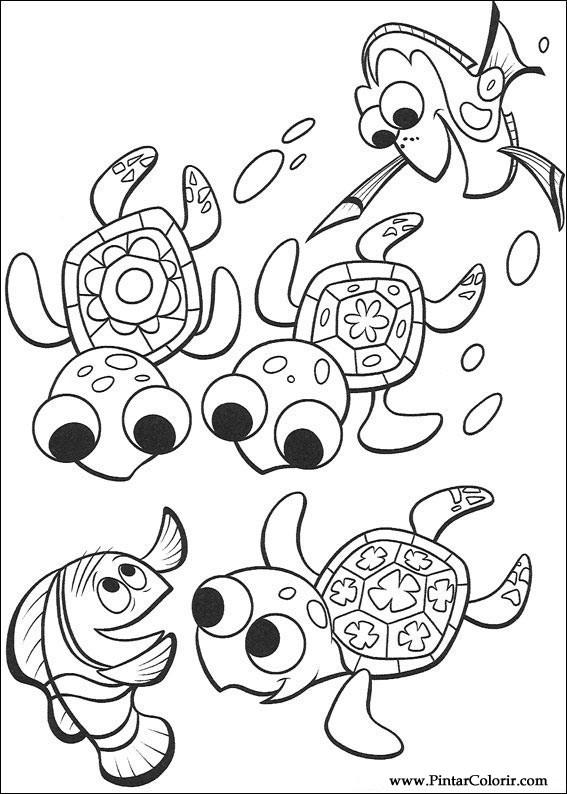Desenhos Para Pintar E Colorir A Procura De Nemo Imprimir
