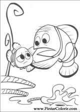 Pintar e Colorir A Procura De Nemo - Desenho 006