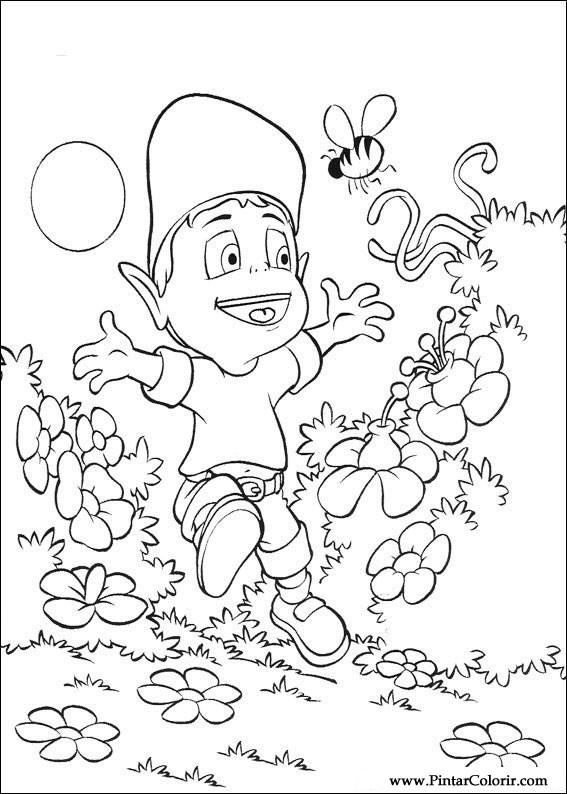 Pintar e Colorir Adiboo - Desenho 009