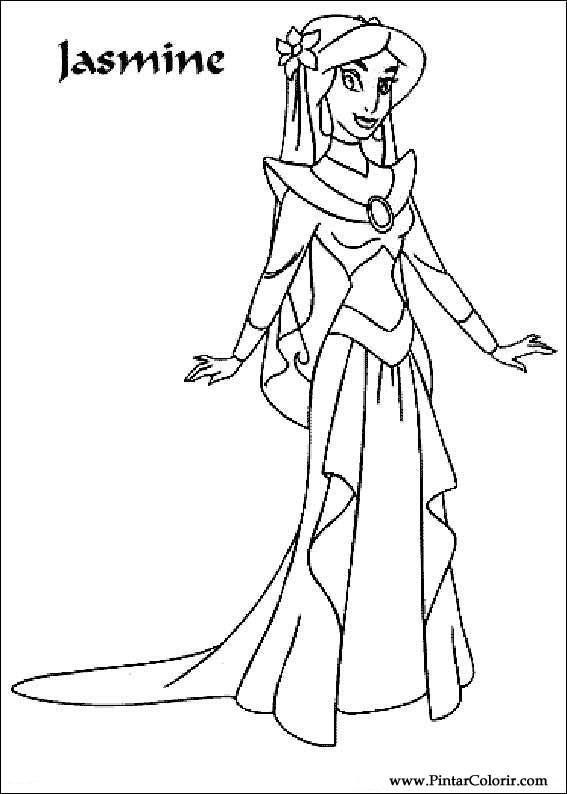 Dibujos Para Pintar Y Color Aladdin Diseño De Impresión 008