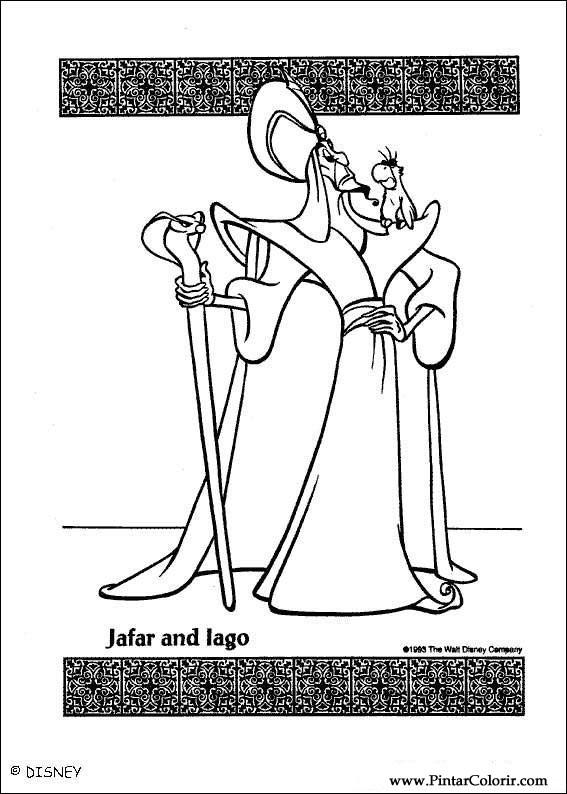Disegni Per Dipingere Colour Aladdin Stampare Realizzazione 023