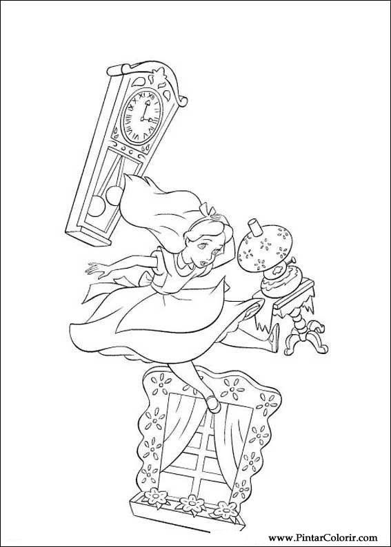 Desenhos Para Pintar E Colorir Alice No Pais Das Maravilhas