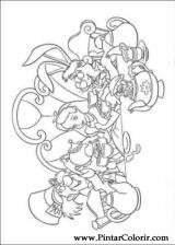 Pintar e Colorir Alice No Pais Das Maravilhas - Desenho 003