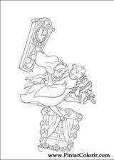 Pintar e Colorir Alice No Pais Das Maravilhas - Desenho 005