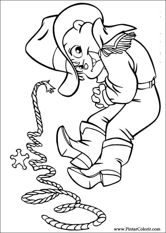 Dibujos para pintar y Color Alvin Ardillas - Diseño de impresión 007