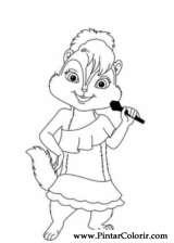 Pintar e Colorir Alvin Esquilos - Desenho 009