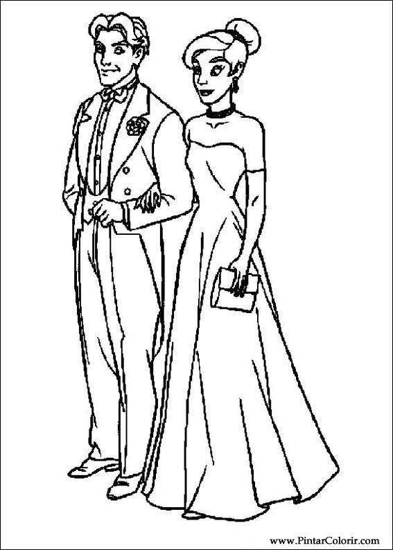 Dibujos para pintar y Color Anastasia - Imprimir Diseño 001