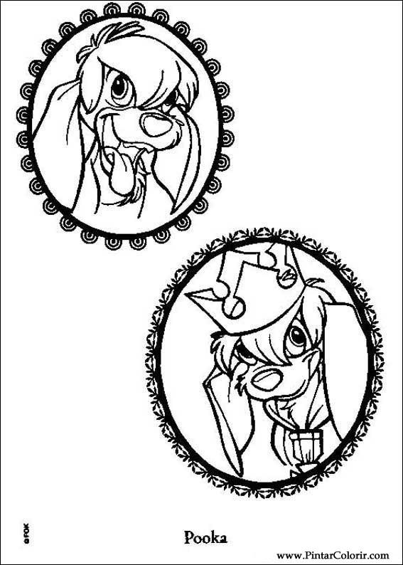 Dibujos para pintar y Color Anastasia - Imprimir Diseño 004
