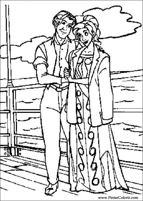 Pintar e Colorir Anastasia - Desenho 008