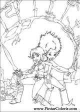 Pintar e Colorir Arthur E Os Minimoys - Desenho 009