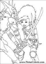 Pintar e Colorir Arthur E Os Minimoys - Desenho 010