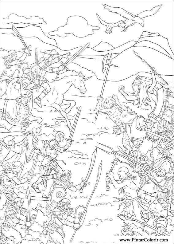 Pintar e Colorir As Cronicas De Narnia - Desenho 008