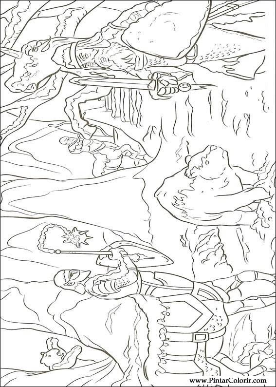 Dibujos para pintar & Colour Las crónicas de Narnia - Imprimir ...