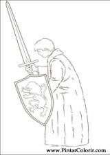 Pintar e Colorir As Cronicas De Narnia - Desenho 010