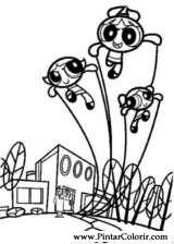 Pintar e Colorir As Powerpuff Girls - Desenho 005