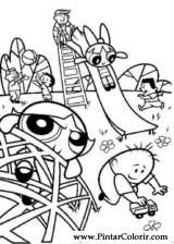 Pintar e Colorir As Powerpuff Girls - Desenho 006