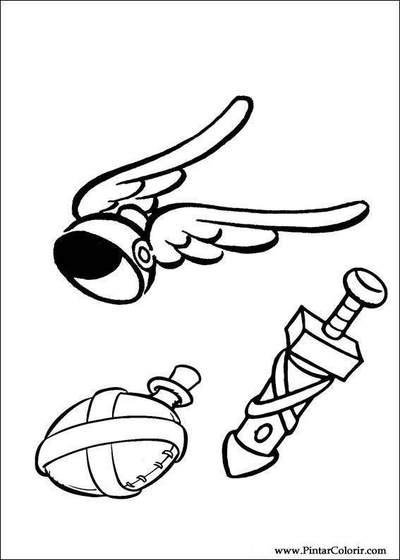 Pintar e Colorir Asterix - Desenho 002