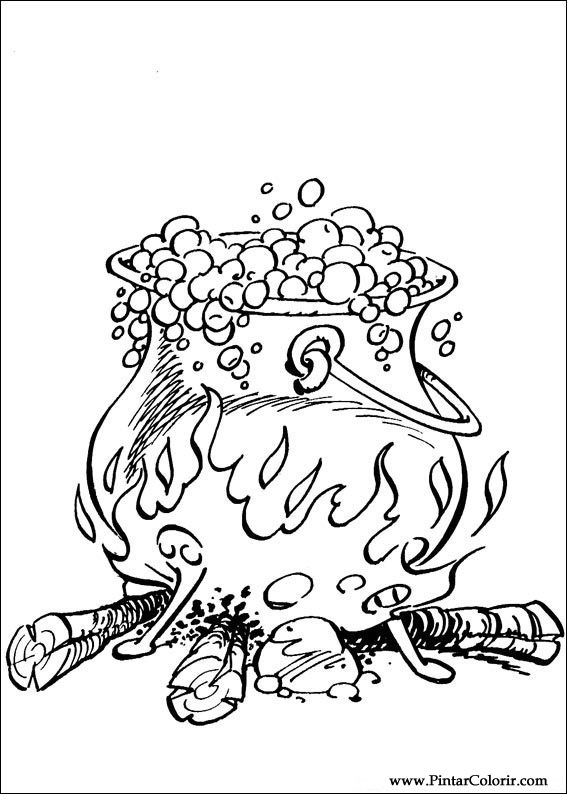 Pintar e Colorir Asterix - Desenho 007