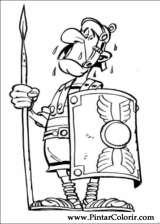 Pintar e Colorir Asterix - Desenho 011