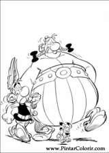 Pintar e Colorir Asterix - Desenho 012