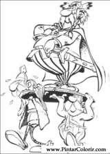 Pintar e Colorir Asterix - Desenho 013