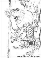 Pintar e Colorir Asterix - Desenho 016