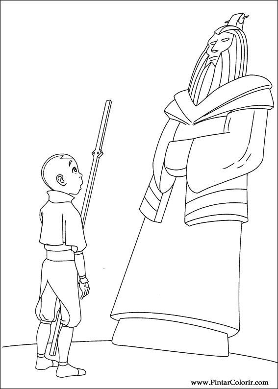 Pintar e Colorir Avatar - Desenho 011