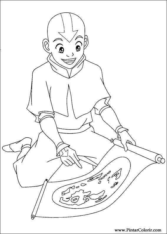 Desenhos Para Pintar E Colorir Avatar Imprimir Desenho 015