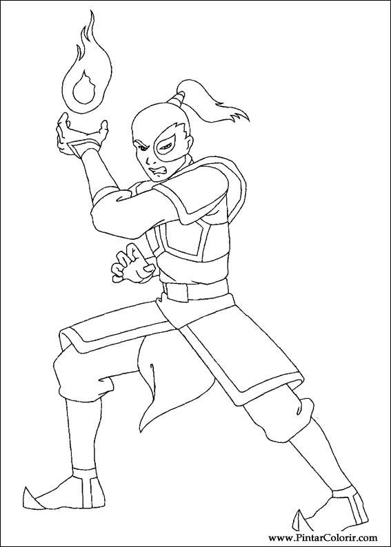 Desenhos Para Pintar E Colorir Avatar Imprimir Desenho 024