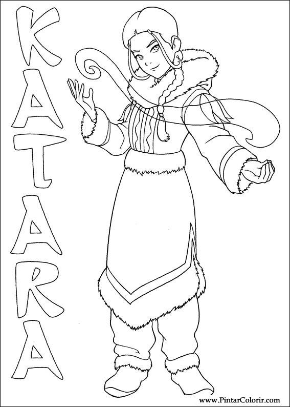 Dibujos para pintar y Color Avatar - Diseño de impresión 027