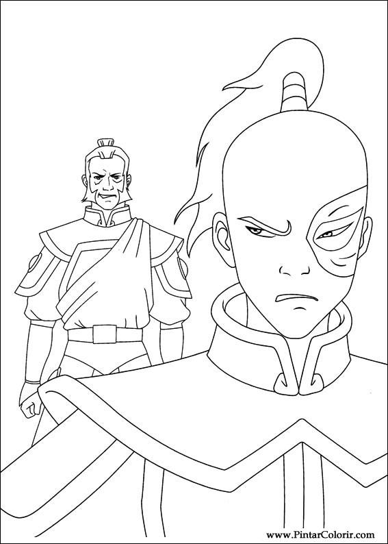 Desenhos Para Pintar E Colorir Avatar Imprimir Desenho 033