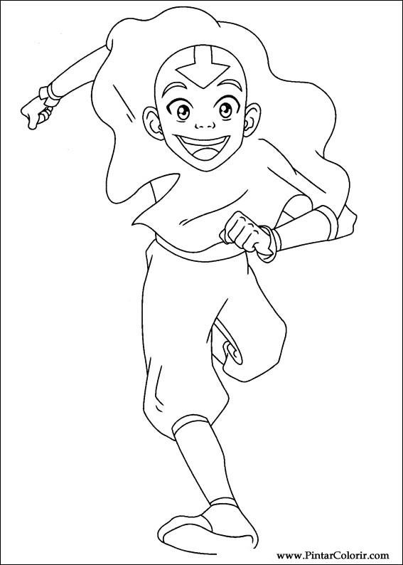 Dibujos para pintar y Color Avatar - Diseño de impresión 037