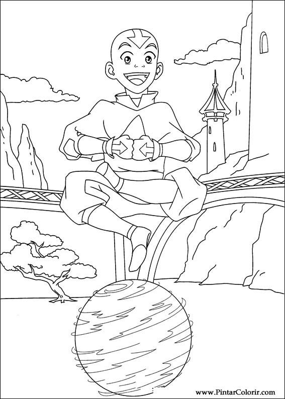 Desenhos Para Pintar E Colorir Avatar Imprimir Desenho 038
