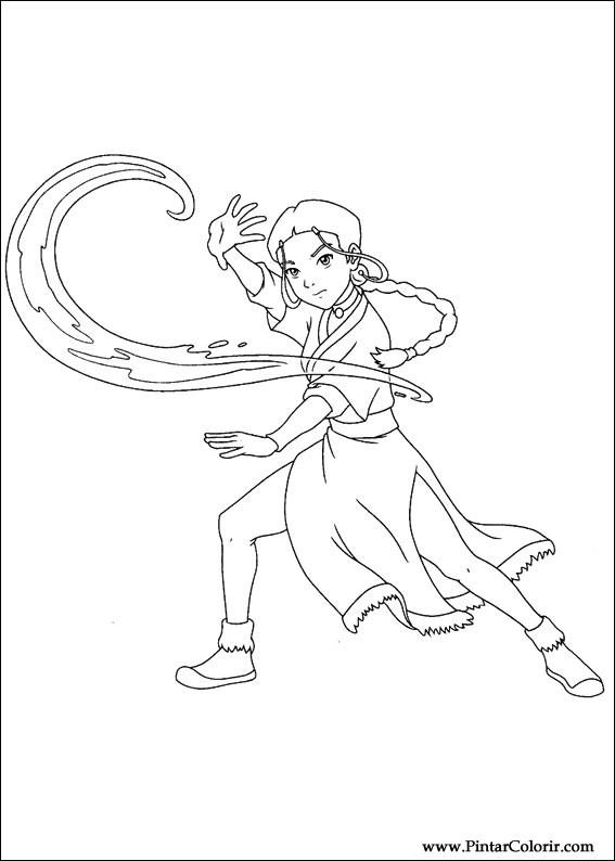 Desenhos Para Pintar E Colorir Avatar Imprimir Desenho 039