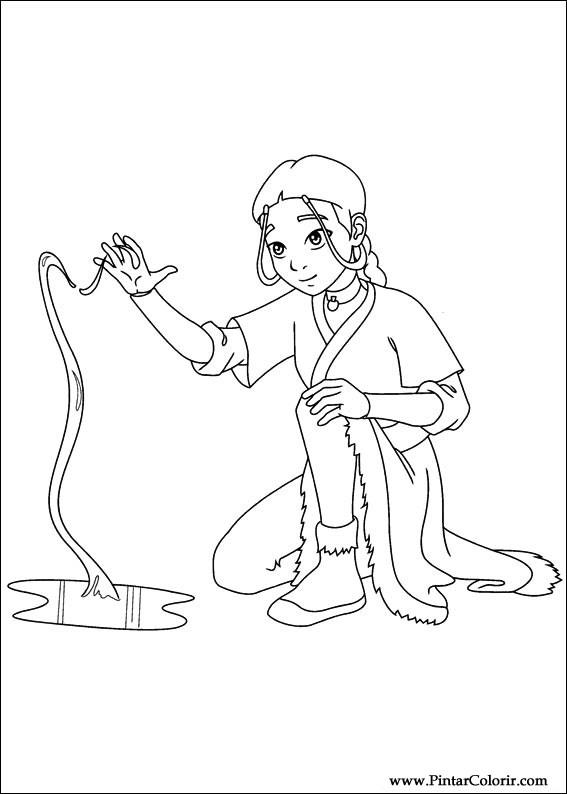 Dibujos para pintar y Color Avatar - Diseño de impresión 043