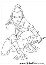Pintar e Colorir Avatar - Desenho 048